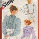 5484 Vintage Simplicity Misses Back Buttoned Blouses 6-16