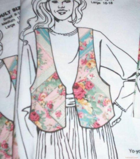 Daisy Kingdom Patty's Attic Vest Patterns-Adult S-M-L
