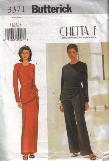 3371 Butterick Chetta B Misses Top,Skirt & Pants 8-24