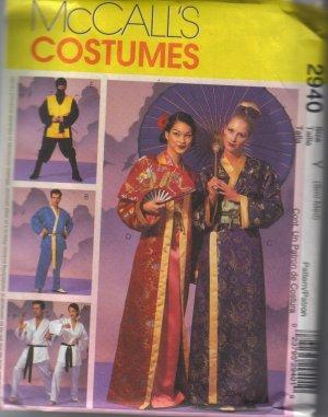 2940 McCalls Misses-Mens & Teen Boys Robe Costumes