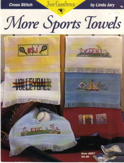 1993 Just Cross Stitch-More Sports Towels