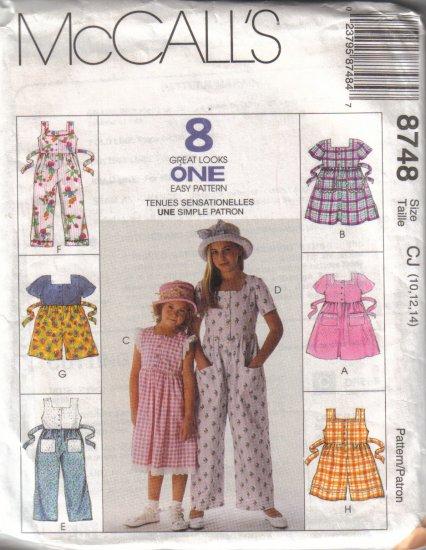 8748 McCalls 8 Great Looks -Dress-Jumpsuit & Romper 2-14
