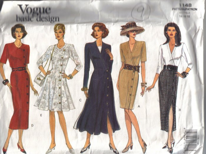 1148 Vogue Vintage 1993 Misses Dresses-8-10