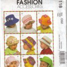 M5118 McCalls Fashion Accessories-Infants Hats