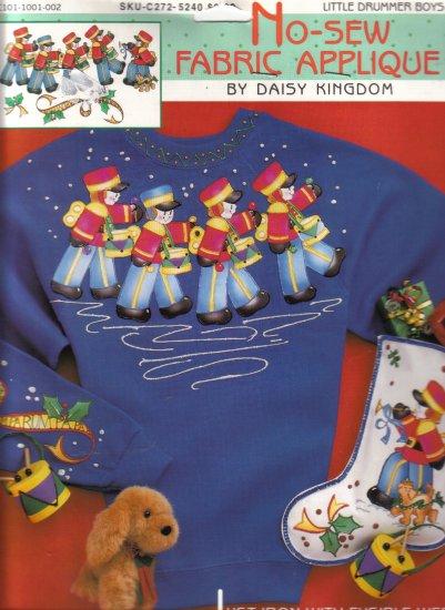 Daisy Kingdom New Sew Applique-Little Drummer Boys