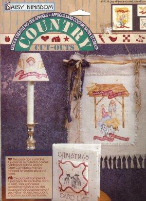 1995 Daisy Kingdom No-Sew Country Cut-Outs Joy-Peace-Love