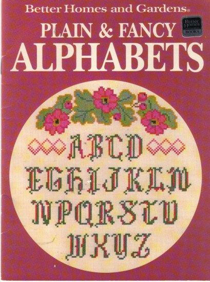 1988 Better Homes & Garderns-Plain & Fancy Alphabets