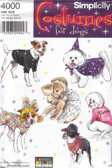4000 Simplicity Costumes for Dogs-Coats & Costumes