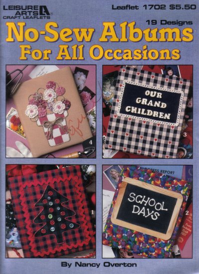 1996 Leisure Arts No-Sew Albums For All Occasions