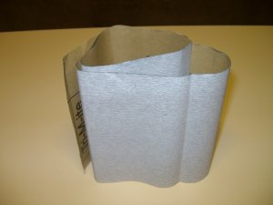 "Sandpaper / Finishing Paper 320 Grit - 24"" x 4 1/2"" ( 600mm x 115mm )"