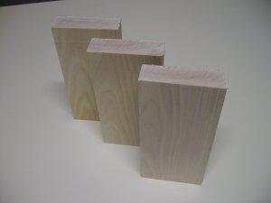 """Yellow Birch Blocks / Blanks-Kiln Dried-7"""" x 3 3/8"""" x 1"""" ( 180mm x 85mm x 25mm )"""