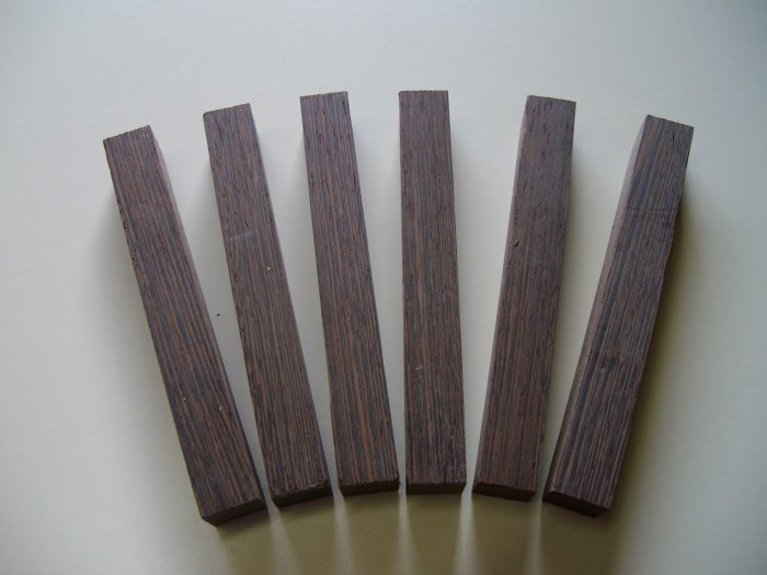 "Wenge Pen Blanks/Pen Blanks Wenge/6 1/4"" x 3/4"" x 3/4"" ( 158mm x 19mm x 19mm )"