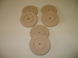 "Wooden Discs / Wooden Wheels / Wheels For Model - 2 15/16"" x 3/8""  ( 74mm x 9mm )"