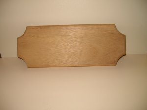 "Wooden Sign Iroko-House Sign-Name Board-11 3/4"" x 4 1/2"" x 3/4"" (300mm x 114mm x 20mm)"