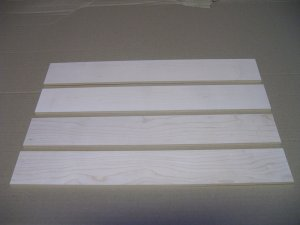 "Wood for Pyrography / Maple / Wood Burning -15 3/4 x 2 1/4"" x 3/16""  ( 400mm x 57mm x 5.5mm )"