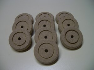 "Wooden Wheels / Wooden Discs / Wheels For Model - 2"" x 1/2""  ( 50mm x 12mm )"