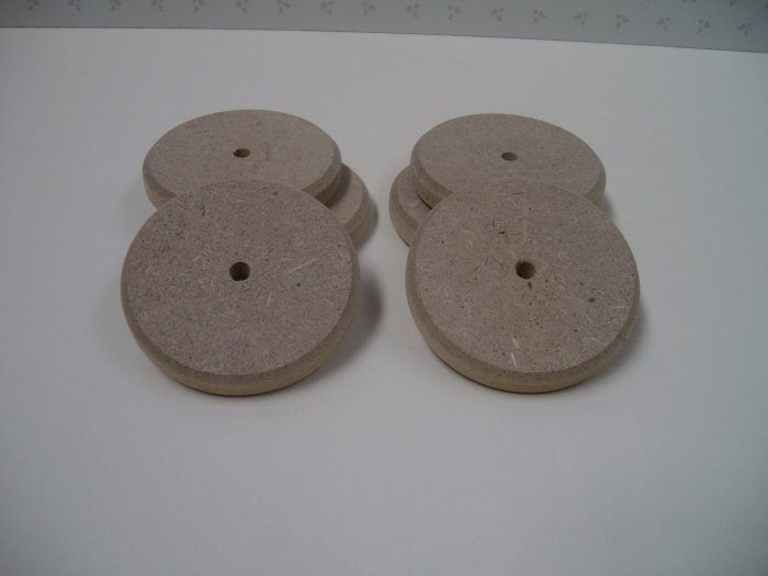 "Wooden Discs / Wooden Wheels / Wheels For Model / Chamfered - 2 15/16"" x 1/2""  ( 74mm x 12mm )"