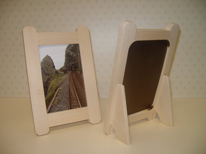 """Unfinished Picture Frames / Maple / Frames for Pyrography / 6"""" x 4"""" Photo size  ( 153mm x 102mm )"""