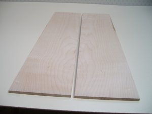 "Maple Wood/Crafts/Blank/Bookmatched Wood-21 1/2"" x 5 1/8"" x 5/16"" ( 548mm x 130mm x 7mm )"