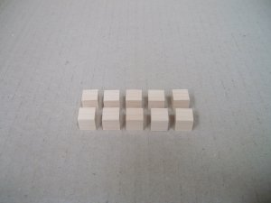 "Wooden Blocks/Cubes/Maple Blocks/3/8"" x 3/8"" x 13/8"" (10mm x 10mm x 10mm)"