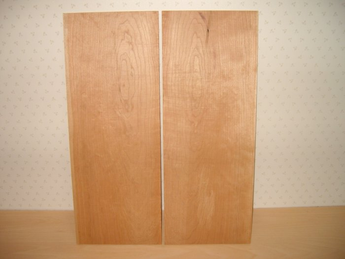 """Cherry Wood Board/Guitar Boards/Bookmatched Cherry-18 1/8"""" x 7"""" x 1/4"""" ( 460mm x 178mm x 7mm )"""