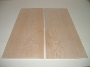 "Maple Boards/Guitar Boards/Bookmatched Maple-20"" x 7 5/8"" x 5/16"" ( 508mm x 193mm x 7.5mm )"