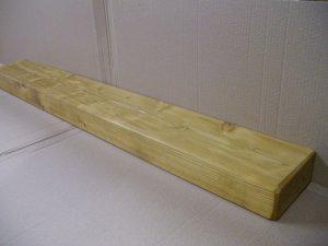 "Mantel Shelf-Pine-Stove Shelf-Rustic-Antique Pine-46"" x 5 3/4"" x 2 3/4"" (1170mm x 147mm x 70mm)"