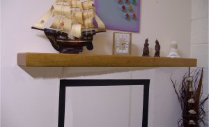 "Pine Mantel Shelf-Mantel Beam-Rustic Mantle-Antique Pine-54"" x 8"" x 2 3/4"" (1370mm x 205mm x 70mm)"