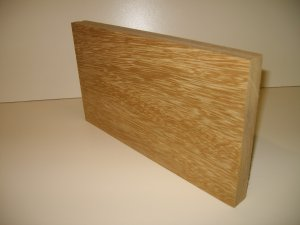 "Iroko Blank/Crafts/Blank/Iroko Wood-10 3/4"" x 6"" x 13/16"" ( 173mm x 152mm x 20mm )"