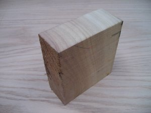 "Iroko Blank/Crafts/Block/Iroko Wood-5"" x 5"" x 2"" ( 125mm x 125mm x 50mm )"