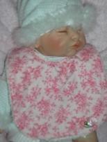Bib ~ Roses in pink