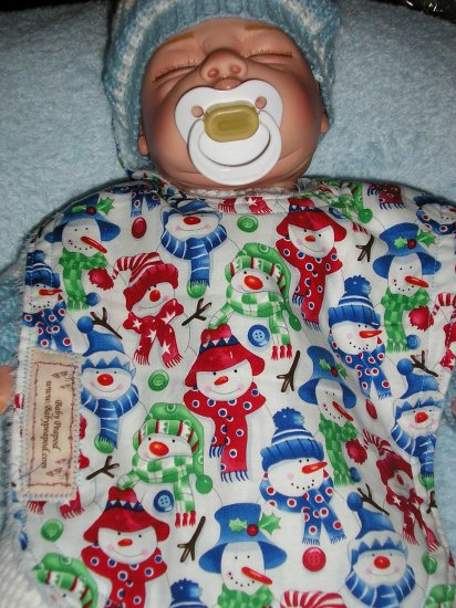 Christmas Snowmen Bib