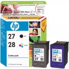 HP 27 28 Recyclable Empty Ink Cartridges - 5 Pieces each
