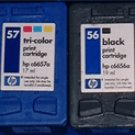 Recyclable HP Inkjet cartridge 56, 57 - 5 Pieces