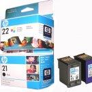 Used Printing Cartridges HP 21, 22 [5 Pieces ea]
