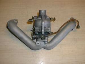 Lauson T650 Twin Outboard boat motor Carburetor & manifold