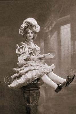 OLD ELECTRICAL DOLL Antique Photo Postcard Reproduction