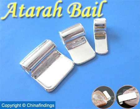 Atarah Tube Bails-Perfect for Glass Pendants and Scrabble Tiles