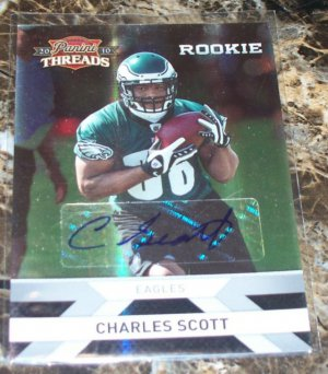 2010 Panini Threads Rookie Silver #214 Charles Scott Autograph 67/499