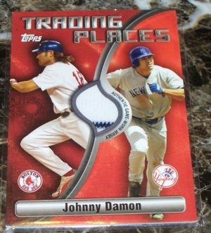 2006 Topps Trading Places Johnny Damon Jersey