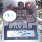 2006 Topps Pristine Personal Endorsements Chris Brown Autograph