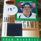 2001 Fabric Of the Game #FG-82 Ed McCaffrey
