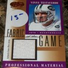 2001 Fabric Of the Game #FG-146 Vinny Testaverde