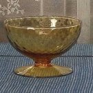 Imperial Glass Skanda Diamond Optic in Amber Steamed Bowl