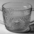 ANCHOR HOCKING CRYSTAL SANDWICH Clear Surgar Bowl