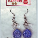 Blue Candy Dangle Earrings Handmade  #H018