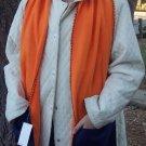 DENVER BRONCO Colors Handwarmer Pocket Winter Scarf Design Fleece Neck Orange and Blue S2009707