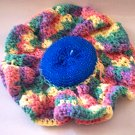 Colorful and Blue Dishcloth Scrubber ALL IN ONE Handmade in the USA
