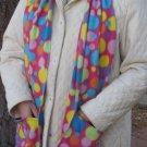 Colorful Polka Dot Circles Handwarmer Pocket Winter Scarf Design Fleece Neck 71 x 9 S2009712