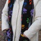 Colorful Paw Prints Handwarmer Pocket Winter Scarf Design Fleece Neck 70 x 9 S2009714